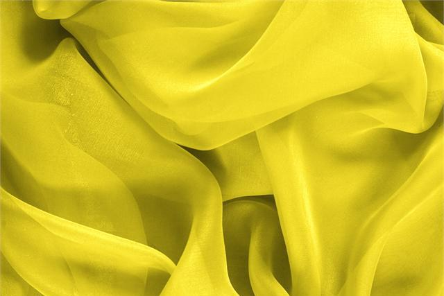 Buy online our clothing and fashion fabric 'Sole' Yellow Silk Chiffon, Made in Italy. - new tess