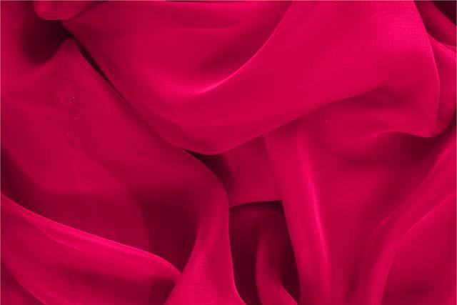 Buy online our clothing and fashion fabric Fuxia Silk Chiffon, Made in Italy. - new tess