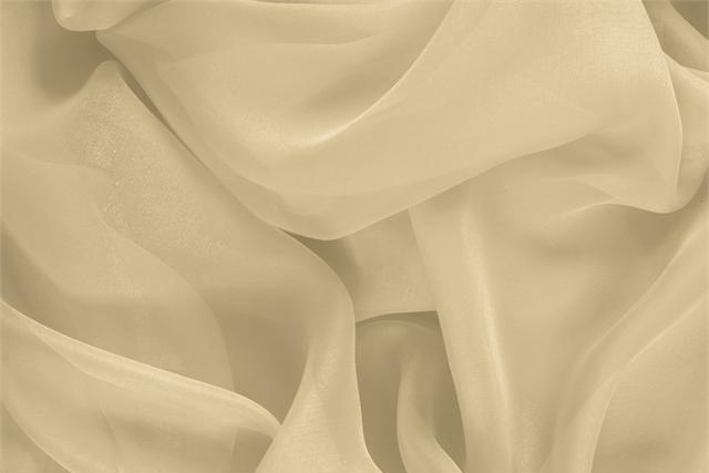 Buy online our clothing and fashion fabric 'Mandorla' Beige Silk Chiffon, Made in Italy. - new tess