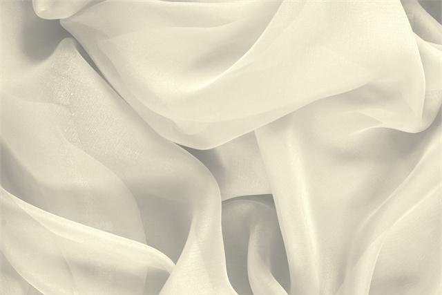 Buy online our clothing and fashion fabric 'Latte' White Silk Chiffon, Made in Italy. - new tess