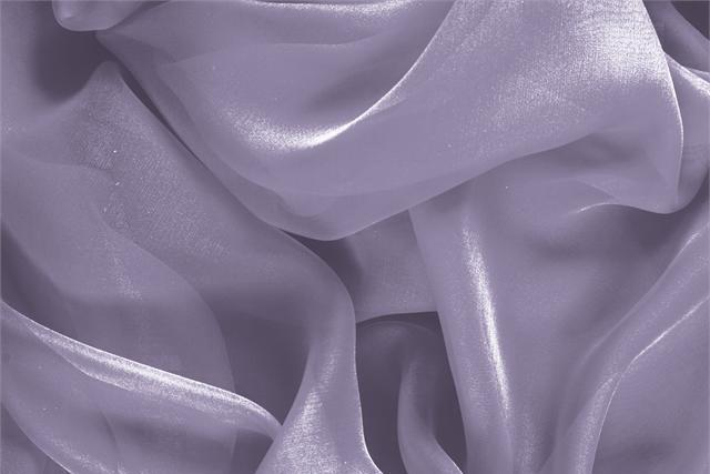 Buy online our clothing and fashion fabric 'Peltro' Silver Silk Chiffon, Made in Italy. - new tess