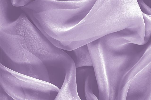 Acquista online il nostro tessuto per abbigliamento, sartoria e moda Chiffon Viola 'Lilla' in Seta, Made in Italy. - new tess