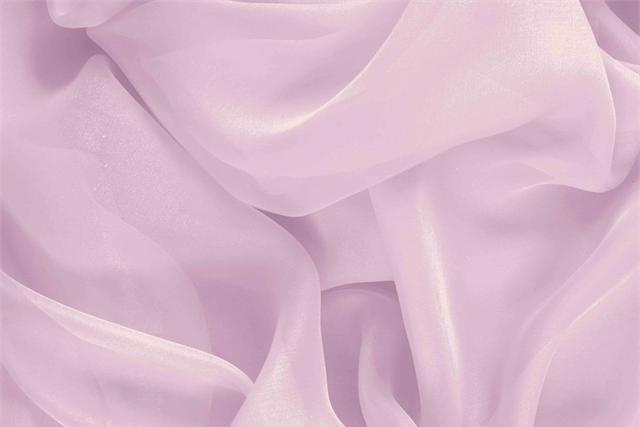 Buy online our clothing and fashion fabric 'Fata' Pink Silk Chiffon, Made in Italy. - new tess