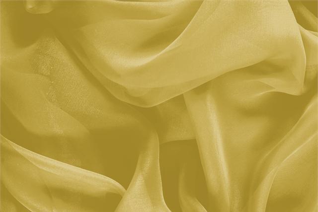 Tissu Chiffon Jaune Olio en Soie pour vêtements