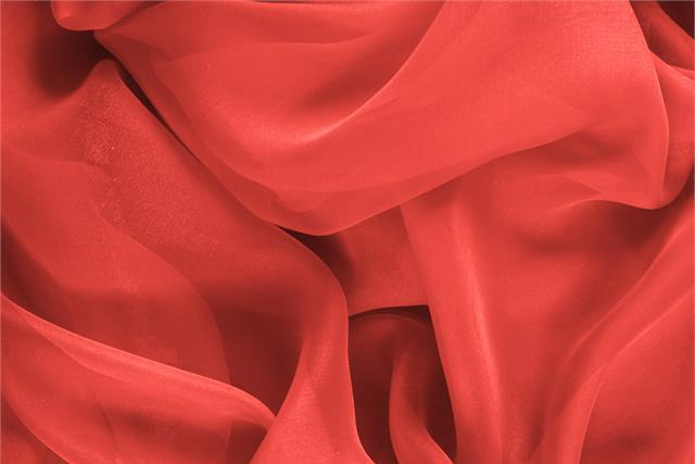 Buy online our clothing and fashion fabric 'Geranio' Pink Silk Chiffon, Made in Italy. - new tess
