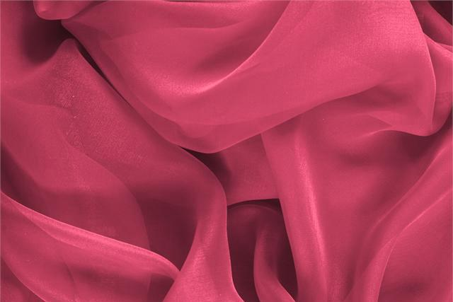 Buy online our clothing and fashion fabric 'Petunia' Fuxia Silk Chiffon, Made in Italy. - new tess