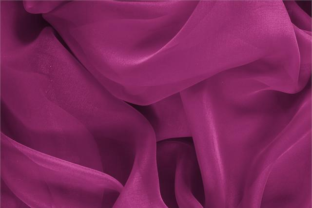 Buy online our clothing and fashion fabric 'Iris' Purple Silk Chiffon, Made in Italy. - new tess
