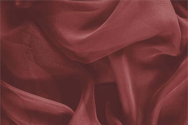 Buy online our clothing and fashion fabric 'Amaranto' Red Silk Chiffon, Made in Italy. - new tess
