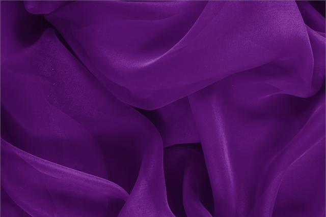 Buy online our clothing and fashion fabric 'Mirtillo' Purple Silk Chiffon, Made in Italy. - new tess