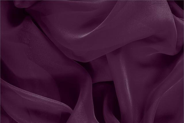 Tissu Chiffon Violet Prugna en Soie pour vêtements