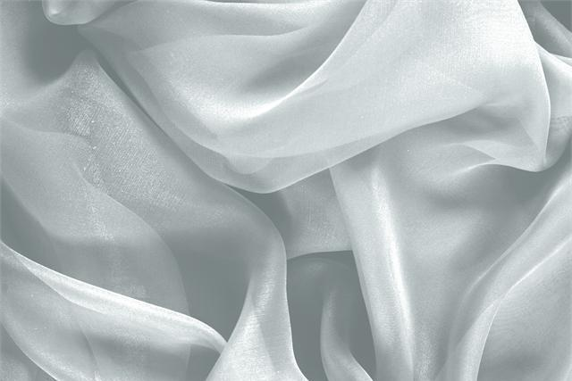 Buy online our clothing and fashion fabric 'Fonte' Blue Silk Chiffon, Made in Italy. - new tess