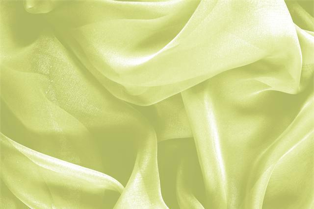 Buy online our clothing and fashion fabric 'Lime' Green Silk Chiffon, Made in Italy. - new tess