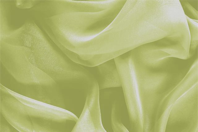 Buy online our clothing and fashion fabric 'Acido' Green Silk Chiffon, Made in Italy. - new tess