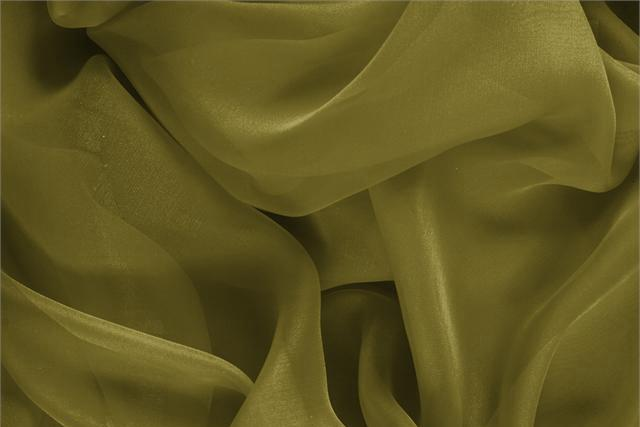 Buy online our clothing and fashion fabric 'Foglia' Green Silk Chiffon, Made in Italy. - new tess