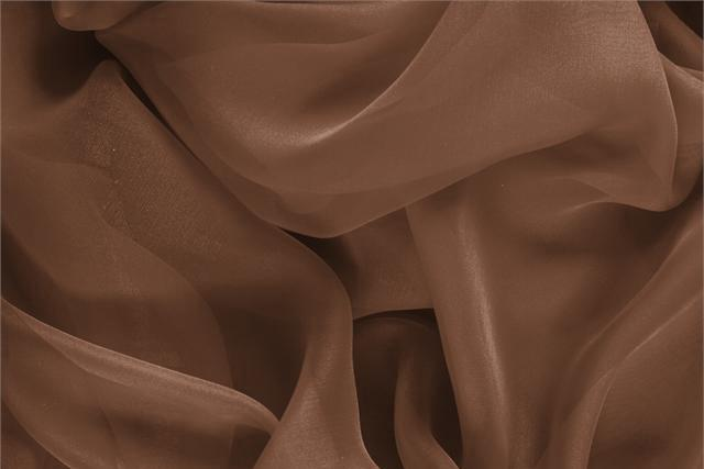 Noce Brown Silk Chiffon fabric for dressmaking
