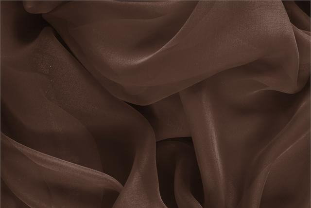 Buy online our clothing and fashion fabric 'Testa Di Moro' Brown Silk Chiffon, Made in Italy. - new tess