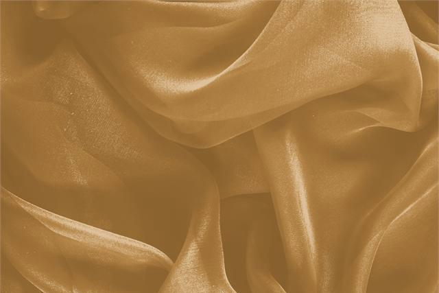 Buy online our clothing and fashion fabric 'Caramel' Brown Silk Chiffon, Made in Italy. - new tess