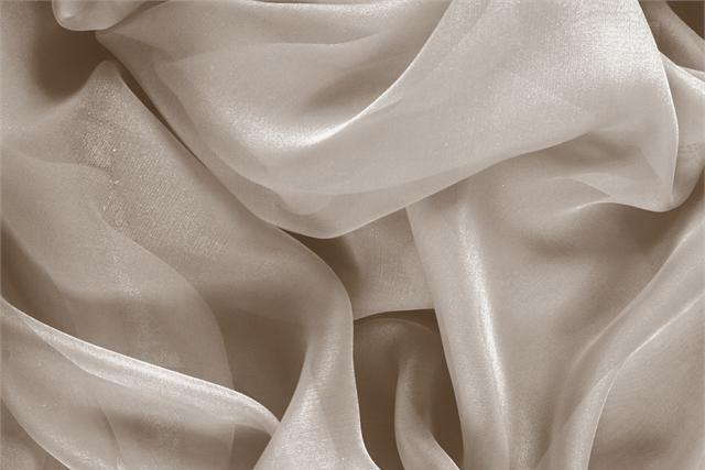 Buy online our clothing and fashion fabric 'Corda' Beige Silk Chiffon, Made in Italy. - new tess