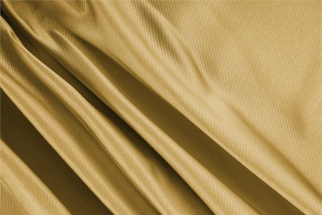 Buy online our clothing and fashion fabric 'Senape' Yellow Silk Dogaressa, Made in Italy. - new tess