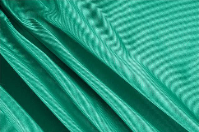 Buy online our clothing and fashion fabric 'Bandiera' Green Silk Dogaressa, Made in Italy. - new tess