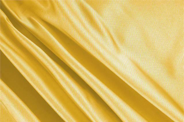 Buy online our clothing and fashion fabric 'Ocra' Yellow Silk Dogaressa, Made in Italy. - new tess