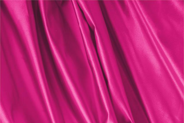 Buy online our clothing and fashion fabric 'Bouganville' Fuxia Silk Duchesse, Made in Italy. - new tess