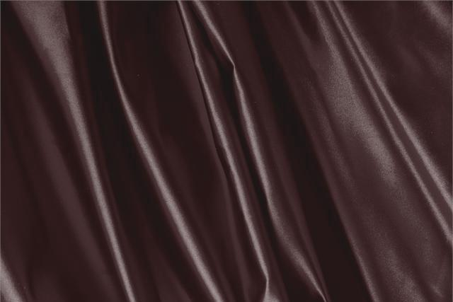 Buy online our clothing and fashion fabric 'Rouge Noir' Purple Silk Duchesse, Made in Italy. - new tess