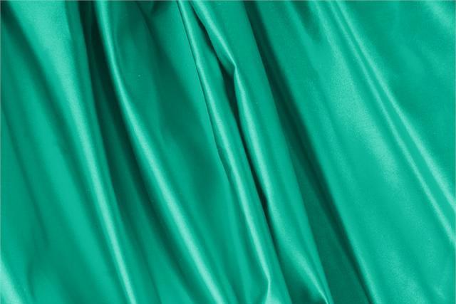 Achetez notre tissu pour habillement, haute couture et mode Duchesse Vert 'Bandiera' en Soie, Made in Italy. - new tess