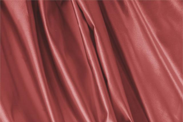 Buy online our clothing and fashion fabric 'Mattone' Brown Silk Duchesse, Made in Italy. - new tess