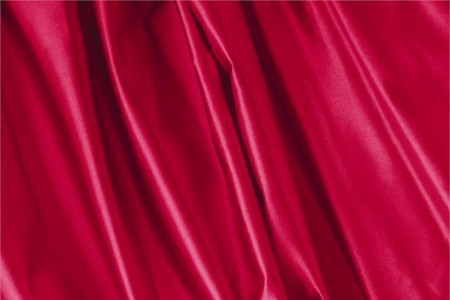 Buy online our clothing and fashion fabric 'Rubino' Red Silk Duchesse, Made in Italy. - new tess