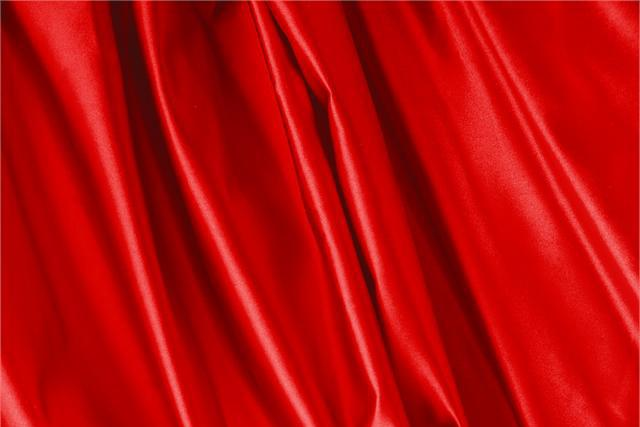 Buy online our clothing and fashion fabric 'Fuoco' Red Silk Duchesse, Made in Italy. - new tess