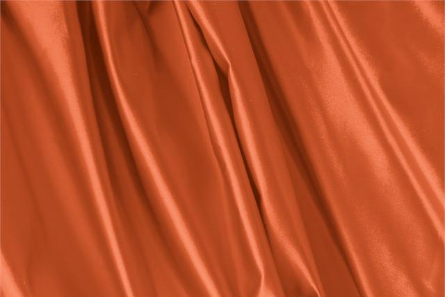Buy online our clothing and fashion fabric 'Aragosta' Orange Silk Duchesse, Made in Italy. - new tess