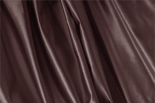 Buy online our clothing and fashion fabric 'Cioccolato' Brown Silk Duchesse, Made in Italy. - new tess