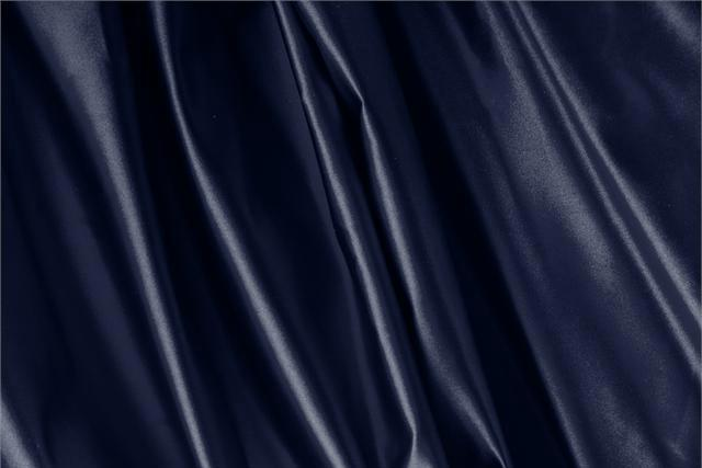 Buy online our clothing and fashion fabric 'Navy' Blue Silk Duchesse, Made in Italy. - new tess