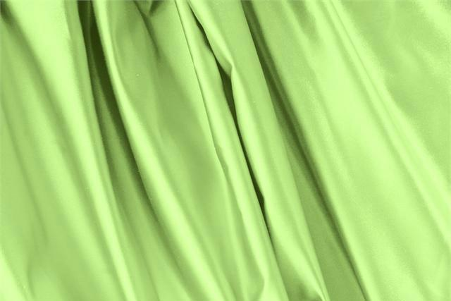 Buy online our clothing and fashion fabric 'Lime' Green Silk Duchesse, Made in Italy. - new tess