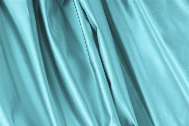 Buy online our clothing and fashion fabric 'Tiffany' Blue Silk Duchesse, Made in Italy. - new tess
