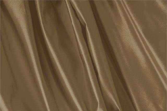 Buy online our clothing and fashion fabric 'Nocciola' Brown Silk Duchesse, Made in Italy. - new tess