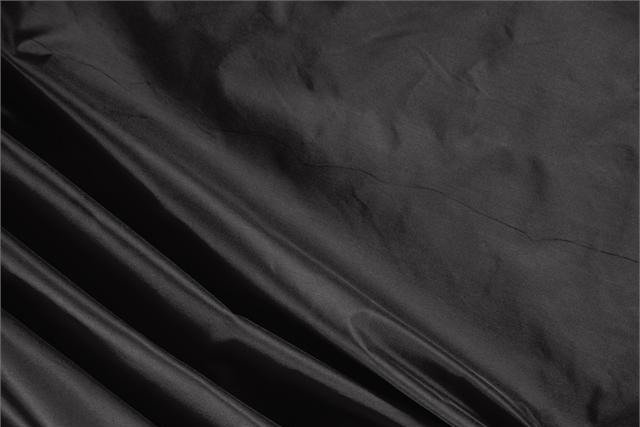 Buy online our clothing and fashion fabric Black Silk Taffeta, Made in Italy. - new tess