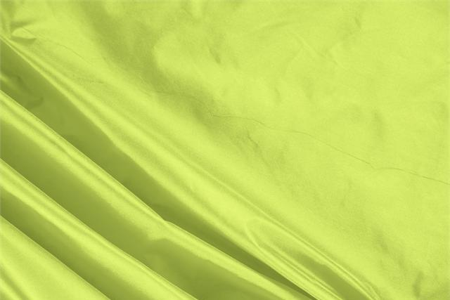 Buy online our clothing and fashion fabric 'Acido' Green Silk Taffeta, Made in Italy. - new tess