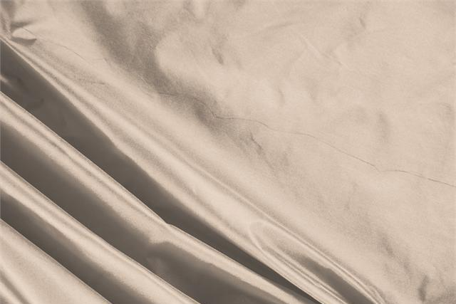 Buy online our clothing and fashion fabric 'Sabbia' Beige Silk Taffeta, Made in Italy. - new tess