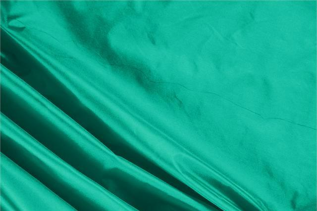 Buy online our clothing and fashion fabric 'Bandiera' Green Silk Taffeta, Made in Italy. - new tess