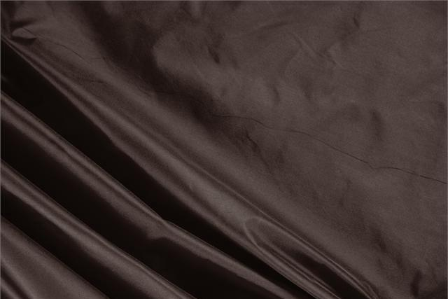 Buy online our clothing and fashion fabric 'Testa Di Moro' Brown Silk Taffeta, Made in Italy. - new tess