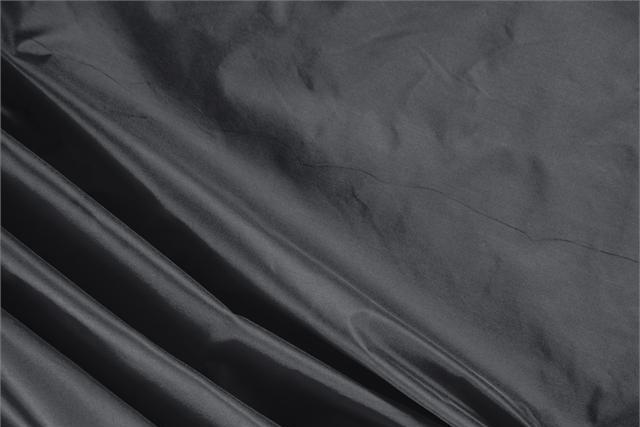 Buy online our clothing and fashion fabric 'Antracite' Gray Silk Taffeta, Made in Italy. - new tess