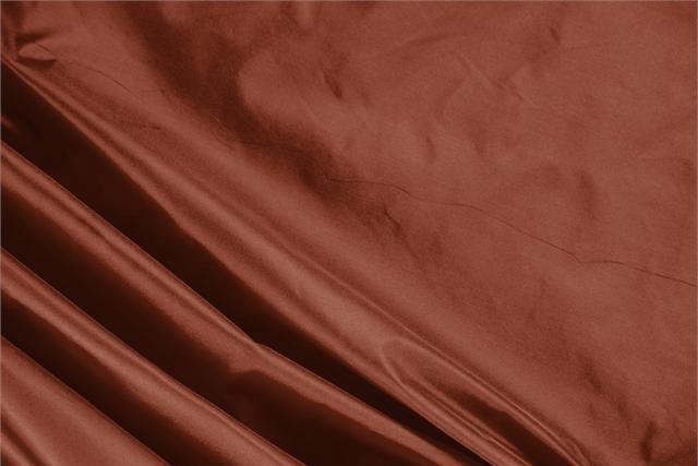 Buy online our clothing and fashion fabric 'Bruciato' Brown Silk Taffeta, Made in Italy. - new tess