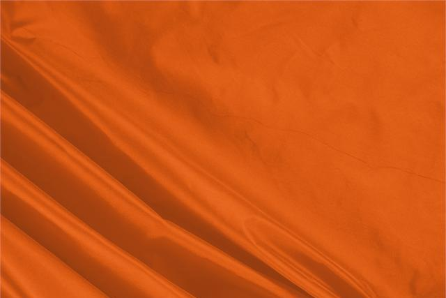 Buy online our clothing and fashion fabric 'Aragosta' Orange Silk Taffeta, Made in Italy. - new tess