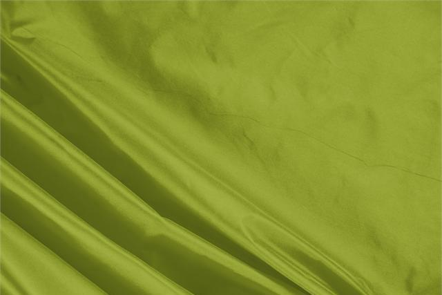Buy online our clothing and fashion fabric 'Muschio' Green Silk Taffeta, Made in Italy. - new tess