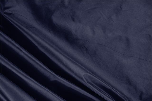 Acquista online il nostro tessuto per abbigliamento, sartoria e moda Taffetas Blu 'Navy' in Seta, Made in Italy. - new tess