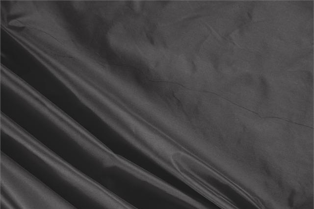 Buy online our clothing and fashion fabric 'Fumo' Gray Silk Taffeta, Made in Italy. - new tess