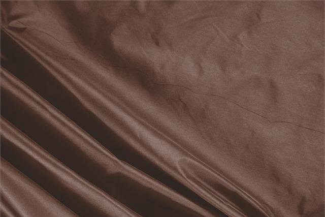 Buy online our clothing and fashion fabric 'Castagna' Brown Silk Taffeta, Made in Italy. - new tess