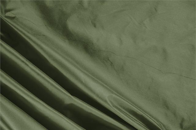 Buy online our clothing and fashion fabric 'Oliva' Green Silk Taffeta, Made in Italy. - new tess